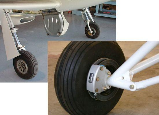 Wheel brakes used on a typical light airplane However, the advent of the jet engine ushered in a new era of much larger and faster aircraft for both the military and airline operations.