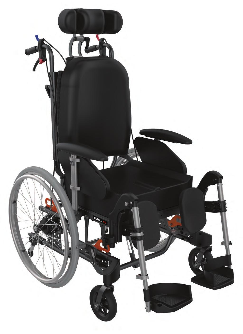 REHAB RS Classic Tilt-In-Space The REHAB RS is an ideal solution for Aged Care and Community users who requires increased postural support and bodyweight redistribution.