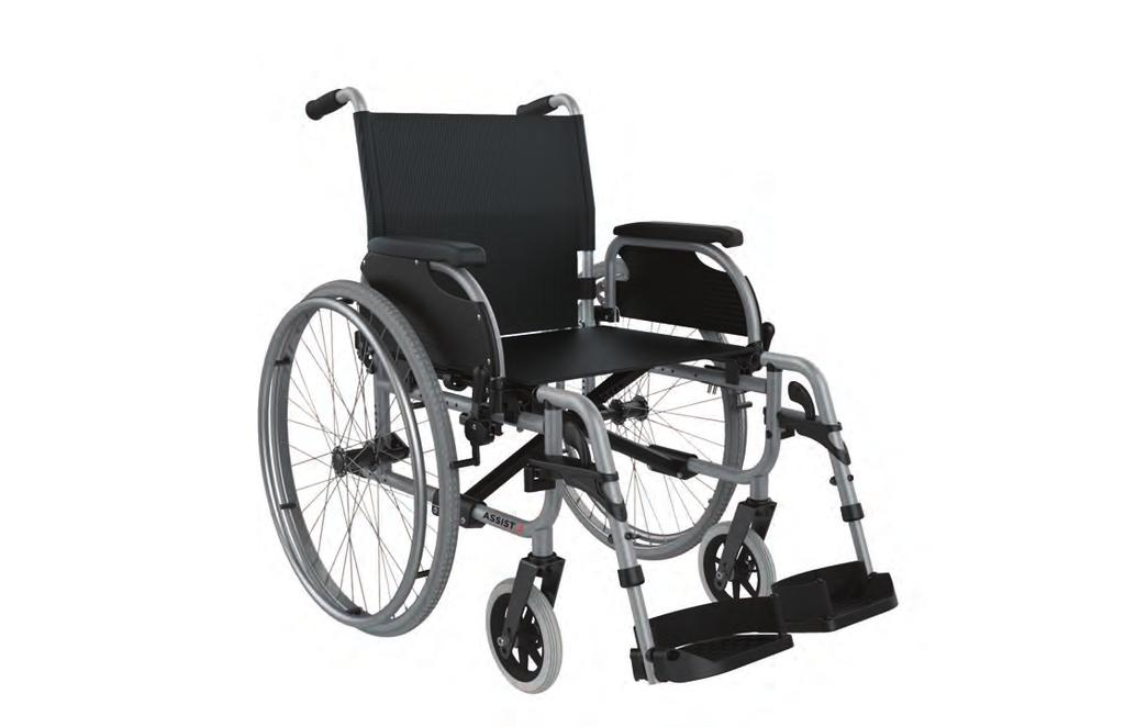 The Aspire ASSIST WARD Vinyl wheelchair has all the features of the ASSIST, but with durable hospital grade vinyl, suitable for the hospital & clinic environment.