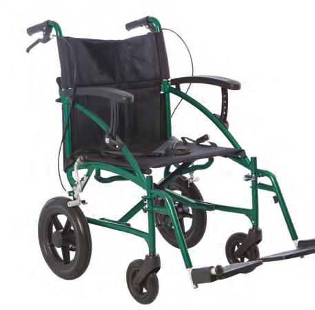 Attendant brakes and inch rear wheels assist the carer in negotiating indoor and outdoor terrain smoothly and safely.