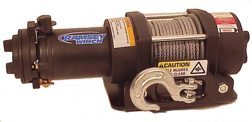 Ramsey Winch Company OWNER S MANUAL BADGER Electric Winch Model BADGER 2500 Note: Fairlead does not attach directly to winch. Winch shown with mounting plate, sold separately.