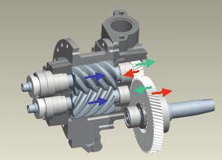 1345, Page 4 Additional changes were necessary to account for the greater dynamic forces at high speeds and conditions with rapid speed transitions, and modifying the drive gears in the compressor