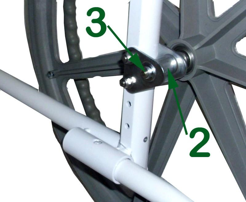 replaced easily without tools. Installation and Removal - To install the optional 24 wheels there are 2 simple steps: 1.