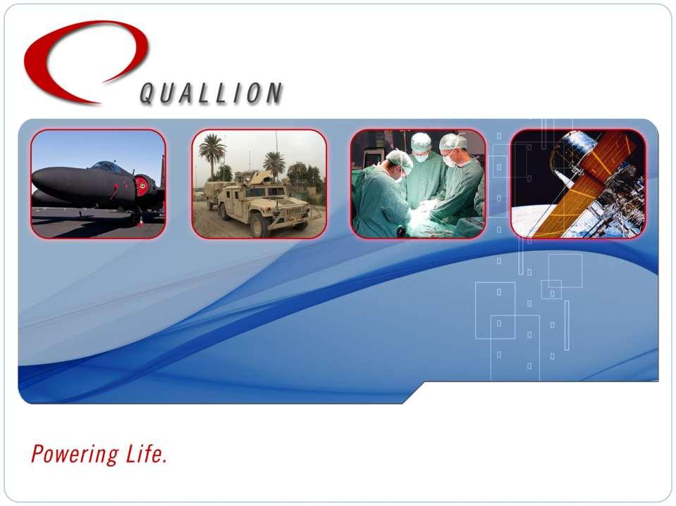 Quallion Matrix Battery Technology for Lithium-ion Lead Acid