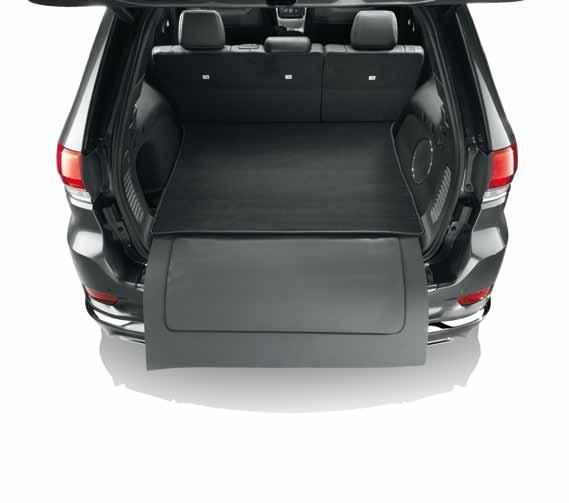 capability Cargo area tray In dark slate grey, with Jeep logo. REF.