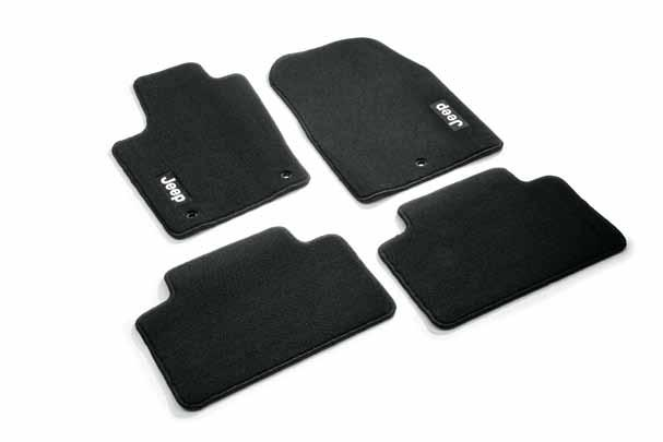 Rubber floor mats * In dark slate grey with Jeep