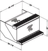 CAB ACCESS BOXES ORDER INFORMATION SIDE STORAGE BOX Order # Description/Dimensions Shipping Wt. H x D x L Lbs.
