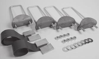"LSR MOUNTING KITS DYNA-CLAMP DELUXE KIT PROBLEM SOLVER DYNA-CLAMP* Order # Description/Dimensions Weight 324 Dyna-Clamp Kit (17"" U-bolts) 31 For Frame Rails 11 Deep or Less 325 Dyna-Clamp Kit (21"""