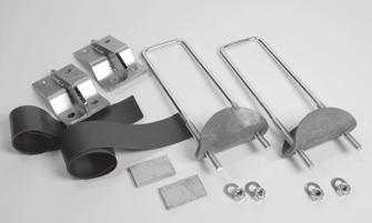 3-POINT MOUNTING KIT* Order # Description/Dimensions Weight 323 Problem Solver Kit 15 (nuts and bolts not included) Designed for difficult installations in and around air tanks, hanger brackets,