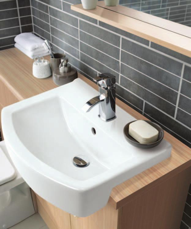 Toilet Unit 600mm Square Back-to-Wall Pan Square Standard Seat 1210mm Laminate Worktop