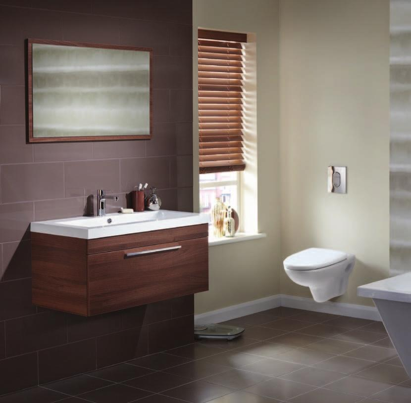 Walnut Immerse yourself in this tranquil bathroom of soft neutrals and rich browns.