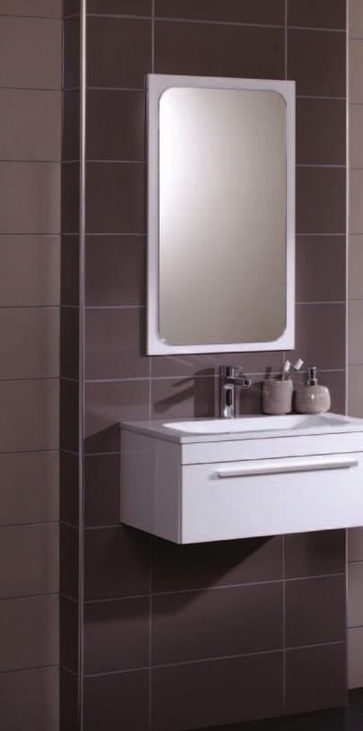 White Gloss The stunning Marl and Ecru wall tiles are a