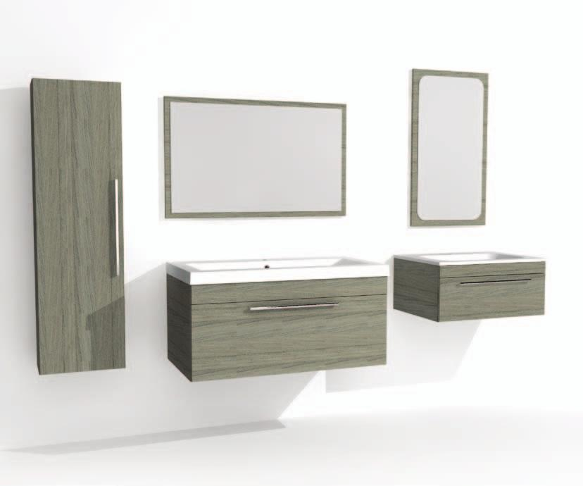 Modular Range and Options Mirror 900mm wide Mirror 450mm wide