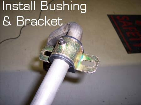 bracket and allow the U-bolts to poke through the