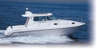 Ambassador 32 Runabout Series SPECIFICATION SHEET (V20040524) Basic Dimensions Length : 32 8 (9.80 m) Length Waterline : 25 10 (7.87 m) Beam : 10 8.5 (3.25 m) Draft : 1 6 (0.