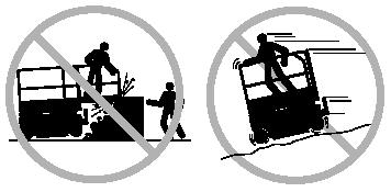 The machine must be on a level surface or secured before releasing the brakes. Operators must comply with employer, job site and governmental rules regarding use of personal protective quipment.