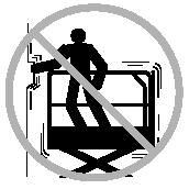Do not use the platform controls to free a platform that is caught, snagged or otherwise prevented from normal motion by an adjacent structure.