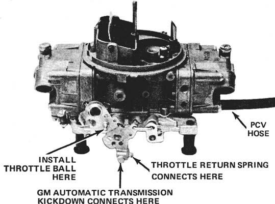 Figure 1 Figure 2 10. Place the carburetor on the manifold. Open the throttle and check to assure that the throttle plates do not interfere in any way with the manifold.
