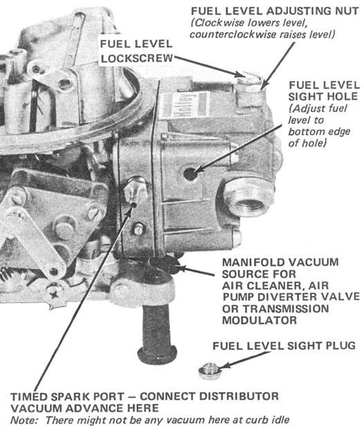 Vacuum for advance is available as soon as the throttle is opened from idle and the engine is placed under a load, such as acceleration or cruise.