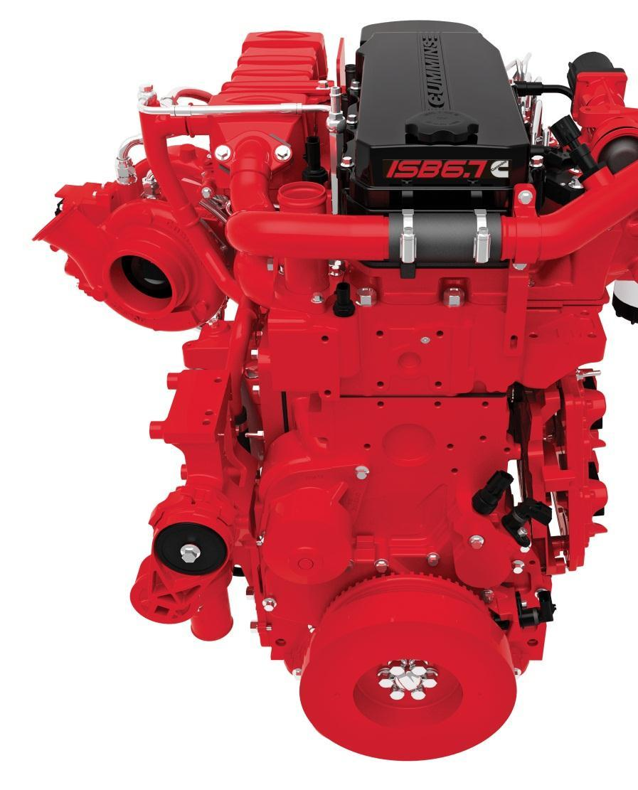 INTRODUCING THE CUMMINS ISB6.7 What do you get when you take the industry s best selling medium-duty diesel engine and the most popular conventional-style bus over the past decade?