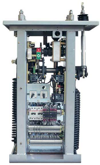 Design The circuit breaker poles include the breaking unit, the current transformers, the ceramic or composite support insulator and the pole linkage housing.