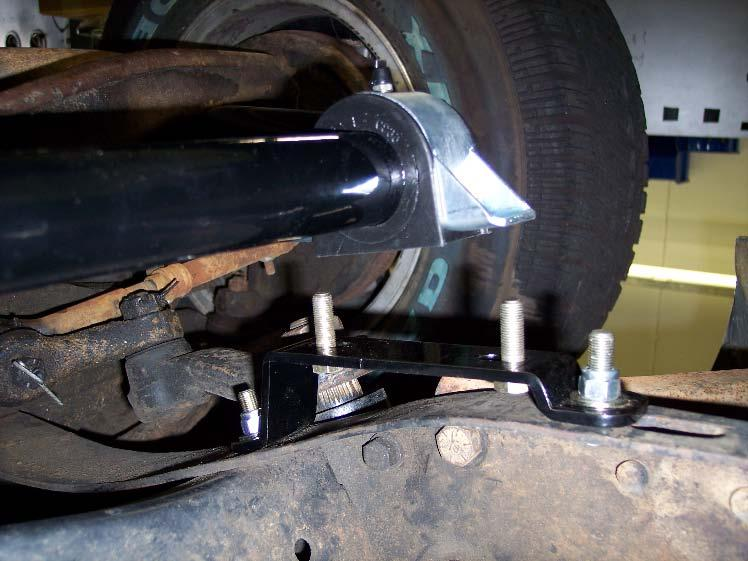 4F Mount Bar onto Truck Position the sway bar up to the frame mounts.