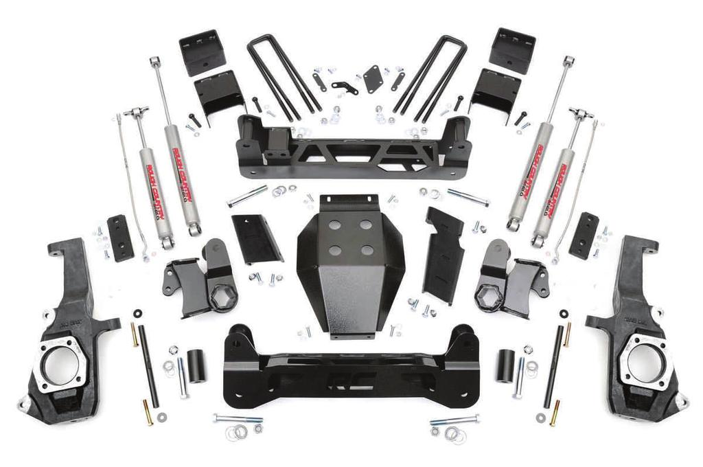 KIT CONTENTS Rear Blocks (2) Rear U-bolts (4) Brake Line Brkts (2) Brake Line Brkt Rr BumpStop Brkts (2) Rear Shocks (2) E-Brake Brkt Front Shocks (2) Dr Brake Line Pass Brake Line Pass.
