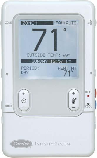 SYSTXCCUIZ01-- V Infinityt Zone Control Product Data A07258 NOTE: Infinityt Zone Control compatible with Infinity rated indoor equipment only.