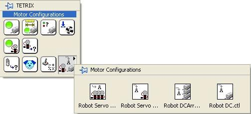Appendix C Programming Servo Motor 3. Two new motor controls will be created in the Motor Configuration palette, as shown below.