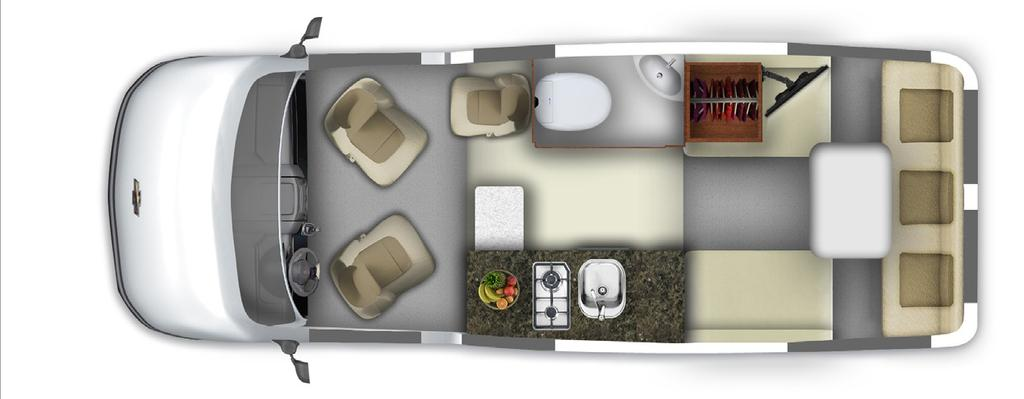 Floor plans Take a step into your beautiful new 210 Popular by Roadtrek.