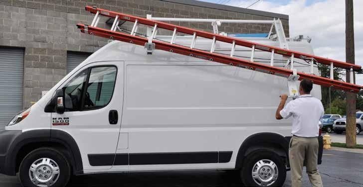 Loadsrite Drop-Down Ladder Rack ProMaster LOAD AND UNLOAD LADDERS THE RIGHT WAY!