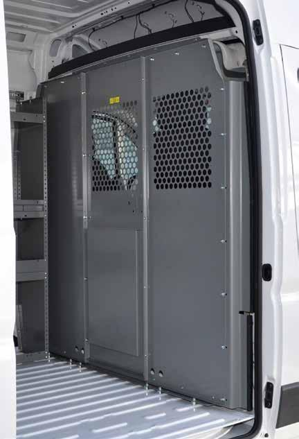 Partitions ProMaster ADRIAN STEEL PARTITIONS KEEP CARGO WHERE IT BELONGS, IN THE CARGO AREA!