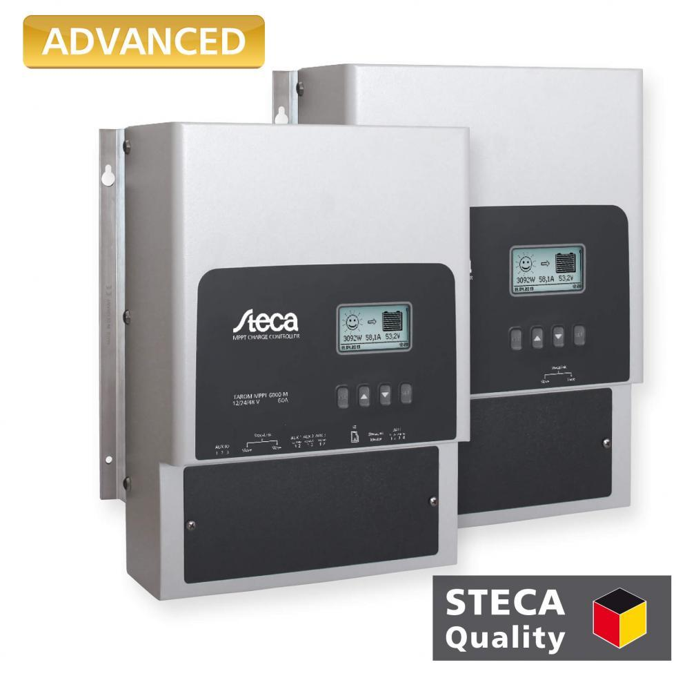 The Steca Tarom charge controller is the ideal choice for larger systems at three voltage levels (12 V, 24 V, 48 V).
