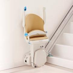 Comfort features Powered swivel When you arrive at the top of the stairs you will need to swivel