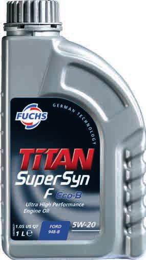 14 Supersyn F Eco-B SAE 5W-20 Ultra high performance, extreme fuel-economy engine oil especially developed for FORD EcoBoost gasoline engines.