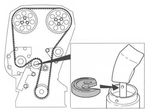 Check that the correct side of the washer faces upwards. See the illustration.