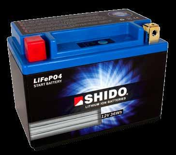Lithium Iron Phosphate Technology Shido Lithium batteries have 4 cells LiFePO4 (Lithium Iron Phosphate) of 3.