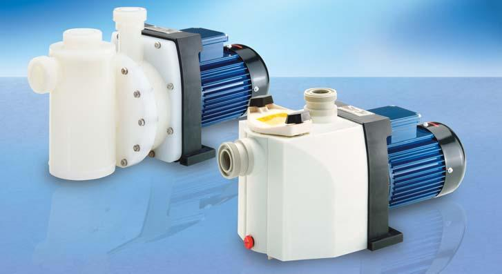 SELF-PRIMING PUMPS OF RMS AND RMB TYPES OVERVIEW RMS side-channel pump A pump of the RMS type is the order of the day to deliver small volume flow rates at high pressure.