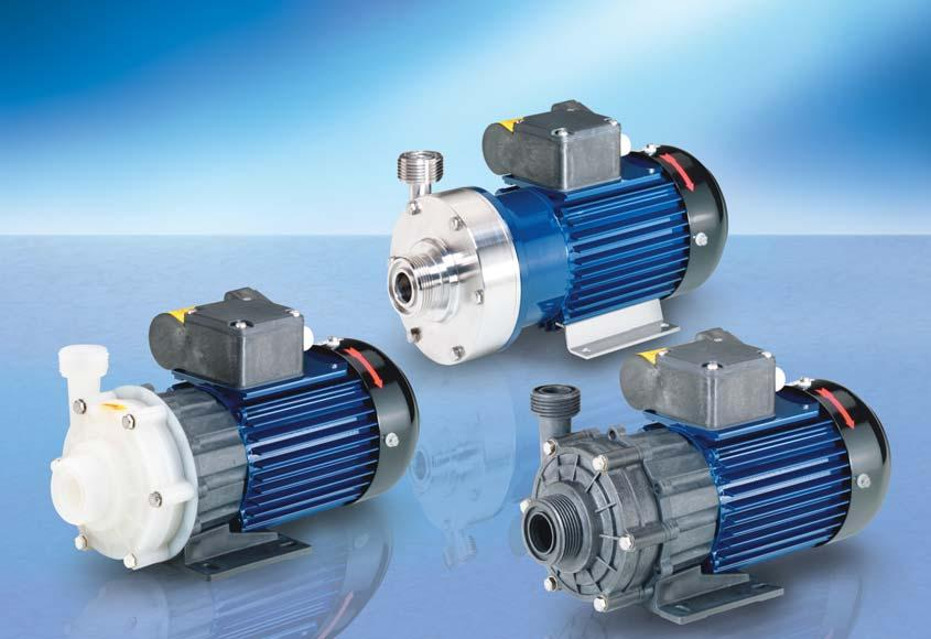 RM MAGNETICALLY COUPLED CENTRIFUGAL PUMPS TYPE 1.5 Delivery rate up to 70 (83) l/min Delivery head up to 7.