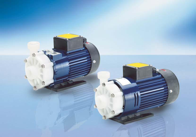 RM MAGNETICALLY COUPLED CENTRIFUGAL PUMPS TYPE 2 Delivery rate up to 118 l/min Delivery head up to 9.