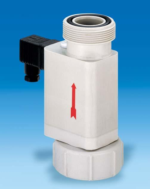 FLOW MONITORS FOR SIMPLE AND COST-EFFECTIVE MONITORING Characteristics: The housing is made of polypropylene or PVDF.