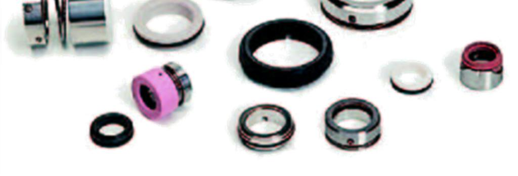 Shaft sealing The following types of shaft seal systems are available: - Lip seal: For low pump pressures and slow speeds.