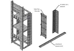 ICS MER 46RU RACK Galvanised steel construction Dimensions (mm): 555 W x 450.