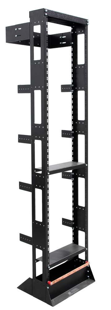 45RU Post Rack - Satin Black Ripple Powder-coated Satin Black Ripple