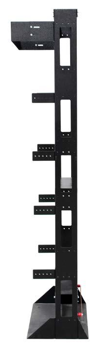 wall fixing bracket RFX0085SBR * Post Rack accessories shown on