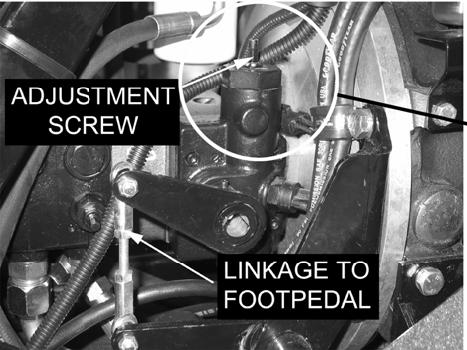 Neutral Adjustment If the machine creeps forward or backward when pedal is in neutral position, the