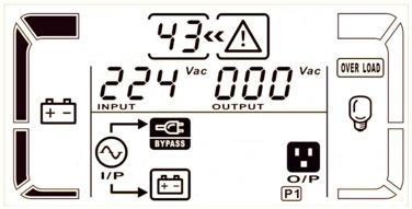 LCD display Battery Test Description When UPS is in AC mode or CVCF mode, press Test key for more