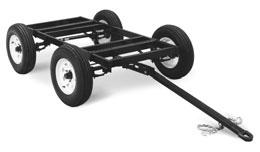 4 m) Mounting Specifications H 4 holes 4 West Four-Wheel Steerable Off-Road Trailer #42 81 A heavy-duty 27 lb (1166 kg) capacity trailer designed for use in mines, quarries, and other rough terrain.