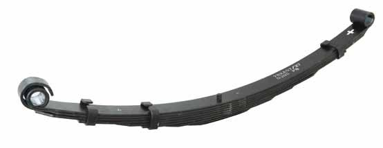 LEAF SPRINGS For heavy duty load carrying and towing, leaf springs remain the best performing suspension design, but can become harsh, noisier and less effective in dampening bumps and vibrations.