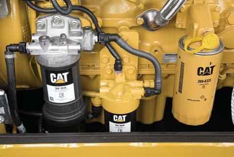 Serviceability When Uptime Counts Convenient Access Built In You can reach routine maintenance items like fuel and engine oil filters and fluid taps at ground level while fuel and DEF tank accessible